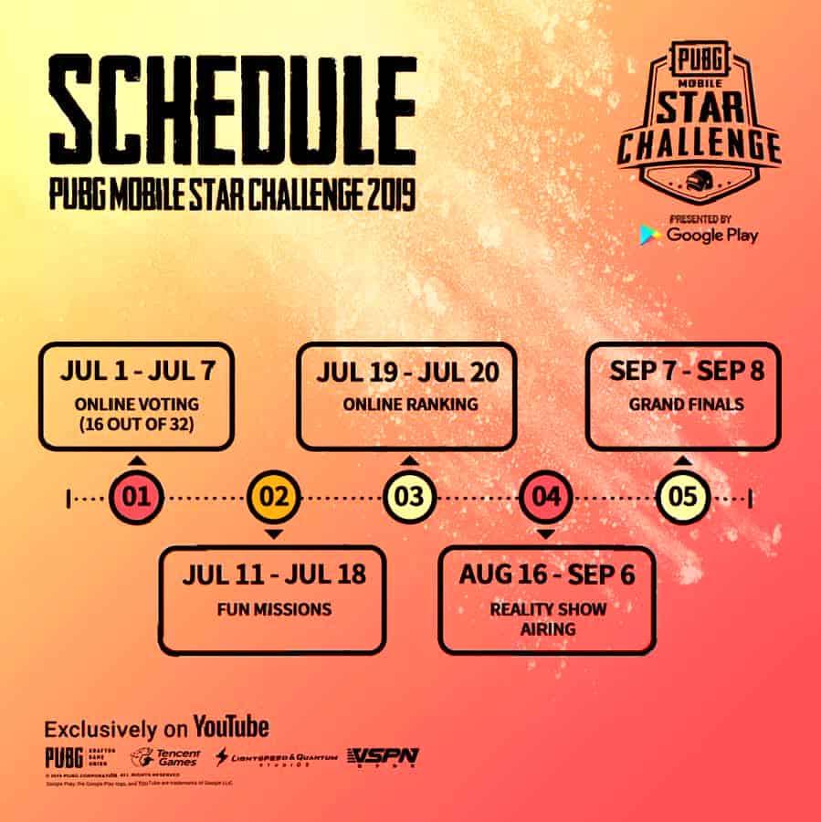 PMSC Schedule 2019