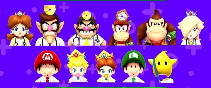 Doctor characters Dr. Mario World