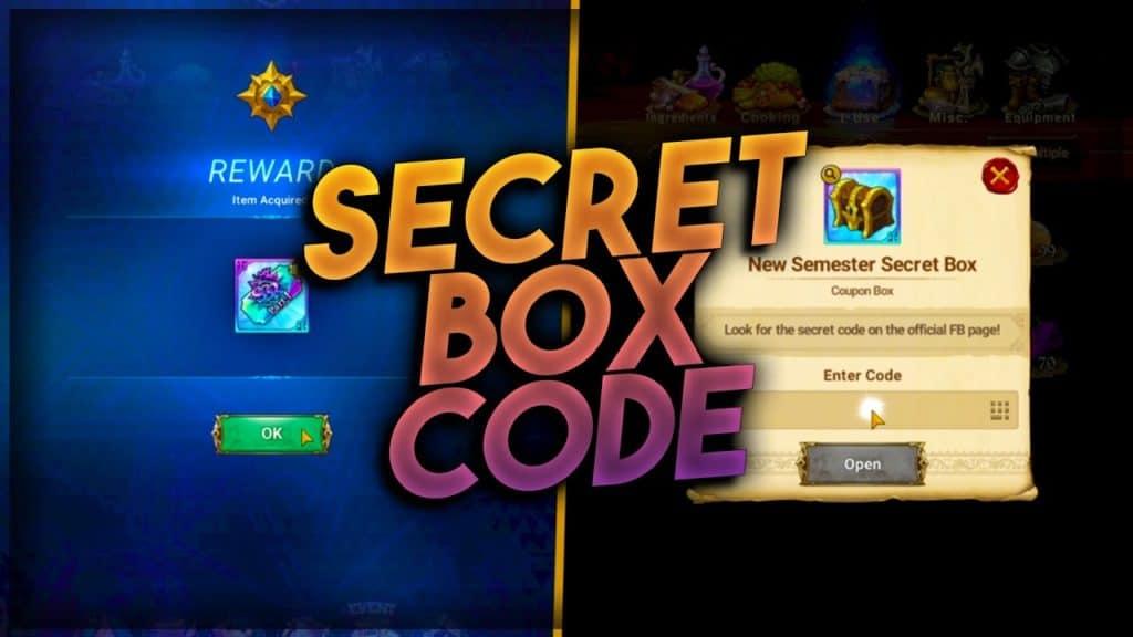 Redeem 7DS Secret Box Codes