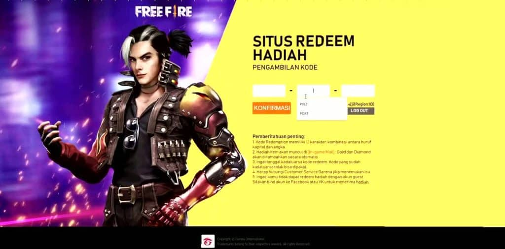 How to use redeem codes in Free Fire