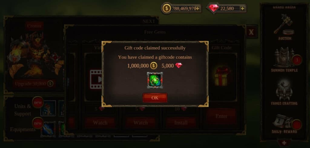 How to Redeem Gift Codes in Epic Heroes War
