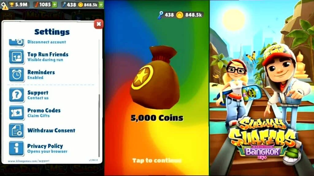 Redeem Subway Surfers Promo Codes