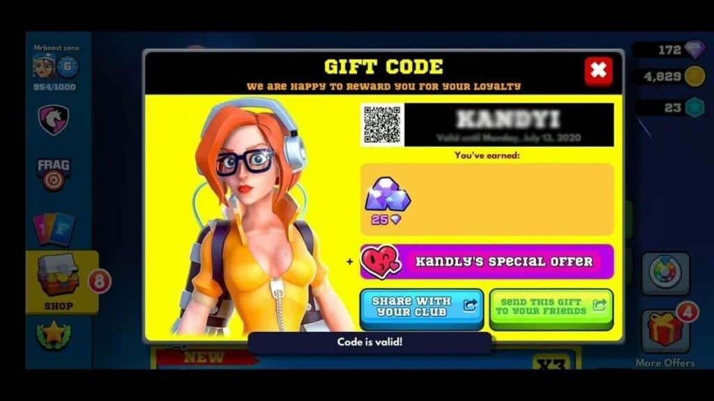Redeem Frag Pro Shooter Gift Codes