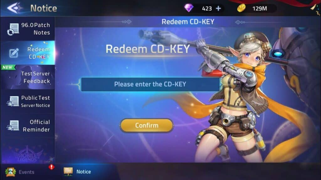 Redeem Mobile Legends Adventure Codes