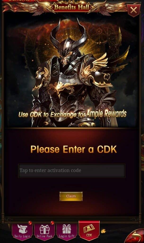 Redeem Immortal Legend Code