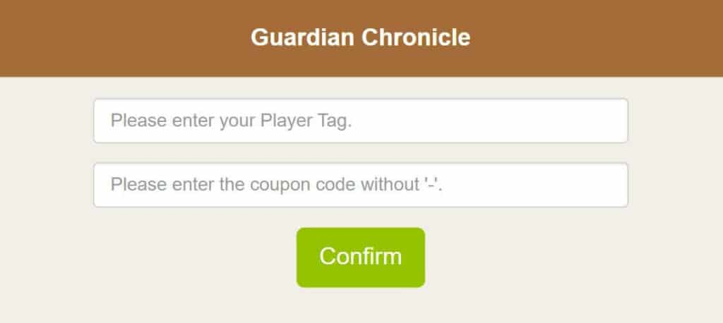 Redeem Guardian Chronicle Coupon Code