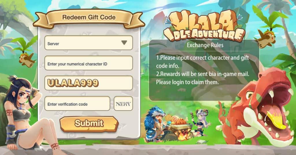 Redeem Ulala Idle Adventure Gift Codes