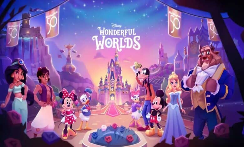 Disney Wonderful Worlds mobile game is now available